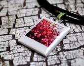 Cherry Blossoms Polaroid Pendant