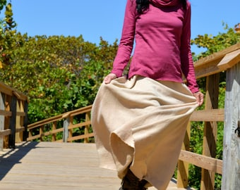 The Miranda Skirt in Organic Hemp Fleece. Made to order.