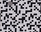 Half yard - Crossword in white -  Timeless Treasures cotton quilt fabric