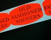 80 stickers about OLD FASHIONED WIENERS