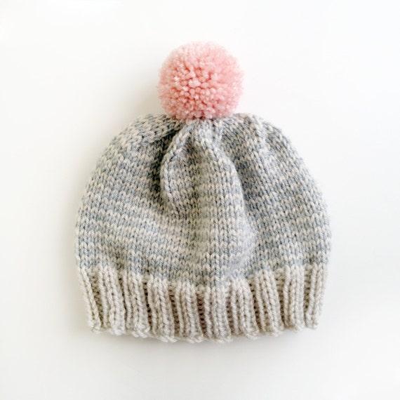 SALE The Stripe-A-Thon Hat in Platinum, Heather Grey , Bubblegum Pink - Made to Order