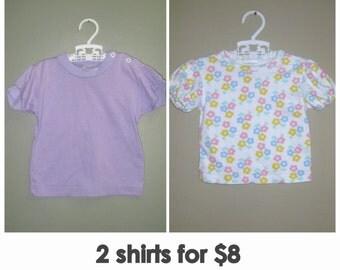 Vintage Girls Tshirt- Girls Shirts- Hipster Children- RINGER T SHIRT- Toddler Girl Purple Shirt- Kids Floral Shirt- Vintage Kids Clothing