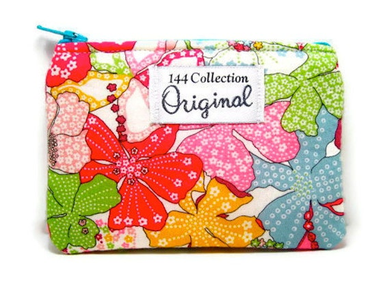 Mauvey Pink Change Purse, Small Floral Wallet, Flower Wallet, Change Wallet, Coin Wallet, Coin Purse, Liberty of London Fabric, Fabric Pouch