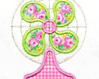 Fan Applique, Fan Embroidery, Summer Applique, Retro Applique, Retro Embroidery Design, Machine Embroidery Design, Instant Download