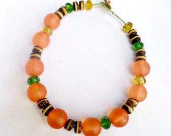 Tribal Chic Beaded Necklace