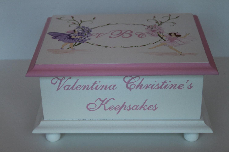 baby keepsake box fairies baby memory box personalized baby. Black Bedroom Furniture Sets. Home Design Ideas