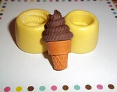 Ice Cream Cone Set Flexible Push Molds Mould For Resin Clay Chocolate - Food Safe Silicone  - E320