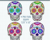 Day of the Dead Clip Art, DOTD Clipart, Sugar Skulls, DOTD Sugar Skulls Clip Art, Sugar Skulls Graphics, Digital Scrapbooking, DOTD Graphics