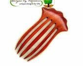 Bella Hair Fork, 4.75 inch FP, Baerreis Hair Fork, Hair Toy, Hand Carved,  Artisan Made, Choose wood species