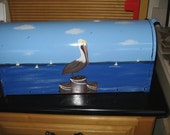 Pelican Themed Hand Painted Mailbox Handpainted Steel Mailboxes