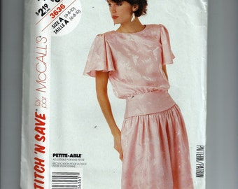 McCall's Misses' Top and Skirt  Pattern 3636