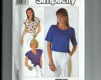 Simplicity Misses' Tops for Stretch Knits Only Pattern 9165