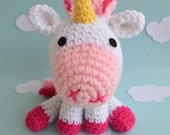 Pink Unicorn Plush Amigurumi Doll Crochet Fantasy
