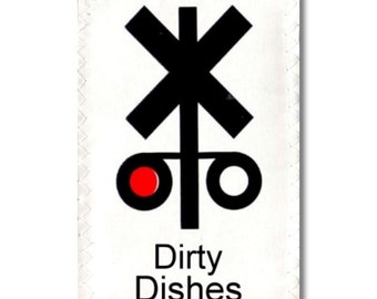 Dishwasher Clean Dirty Mini Flip Magnet Sign Train Signal Red Dirty Green Clean cute home decor Wife Gift