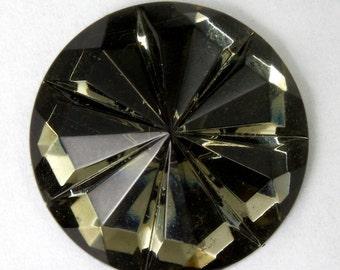 18mm Black Diamond Seven Petal Cabochon #2246