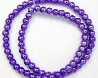 6mm Metallic Violet Bead (75 Pcs) #2327