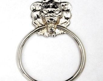 65mm Silver Lion Doorknocker #2349