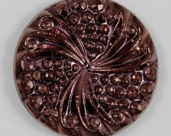 23mm Metallic Burgundy Cabochon #1384