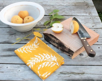 goldenrod wheat yellow thanksgiving floursack towel
