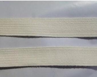 ELASTIC 5/8 Ecru Ivory Soft Cotton Swimwear Elastic 5 yds.