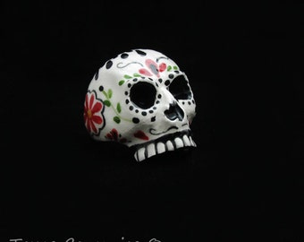 Day of the Dead Sugar Skull Ceramic Napkin Ring Table Ware Place Setting Accessory Día de Muertos Holiday