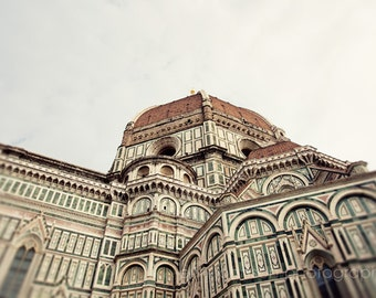 Florence, Italy  - cathedral, european church, religious photography, architecture, florence photography, brown decor - Il Duomo II F04