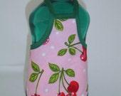 Sweet Cherry Garden Detergent Bottle Apron Cover Party Favor Staffer Sm