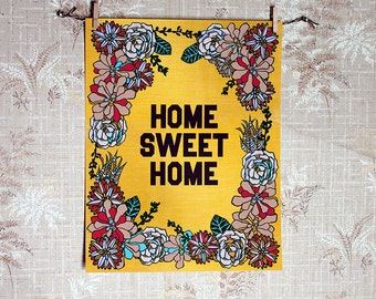 Succulent Home Sweet Home-11 x 14 print