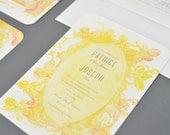 Wedding Invitations: Floral Watercolor Borders