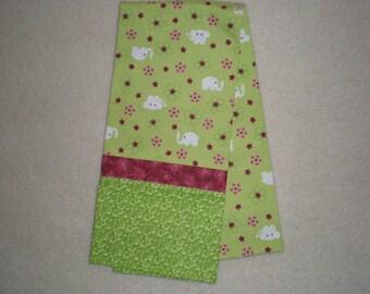Cute Green Elephant Print Standard Size Bed Pillow Case