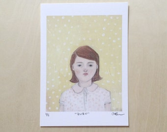 zuzu - limited edition of five - print of original oil painting