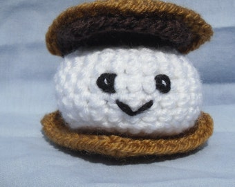 S'More - amigurumi campfire treat