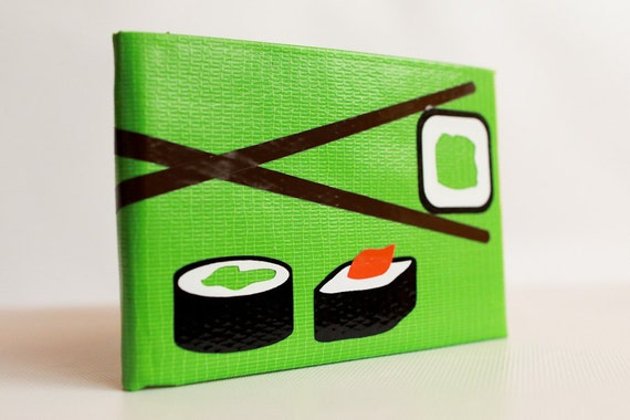 Sushi Duct Tape Wallet - by jDUCT