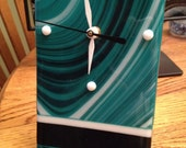 Fused Glass Free-standing Clock