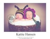 newborn twin hats baby boy hat baby girl flower hat newborn baby photography prop bee and flower halloween hats