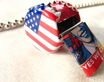 Whistle Red White and Blue