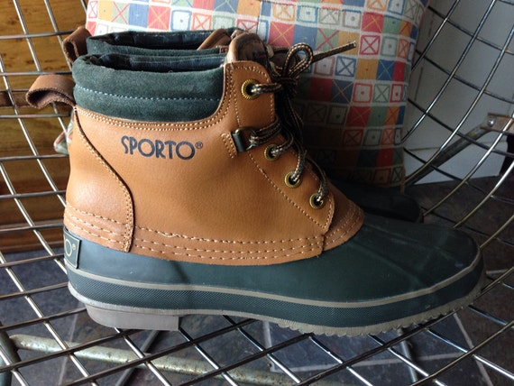 sporto duck boots in green us s 9