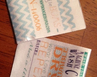 Satin Clothing Labels - Sewing Tags - Digitally Printed - 100 - UNLIMITED COLORS - Made in USA
