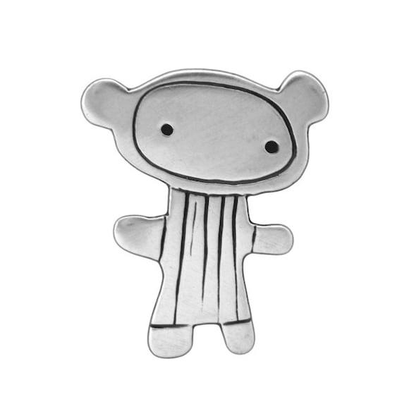 Sterling Love Bear Necklace - Silver Bear Pendant