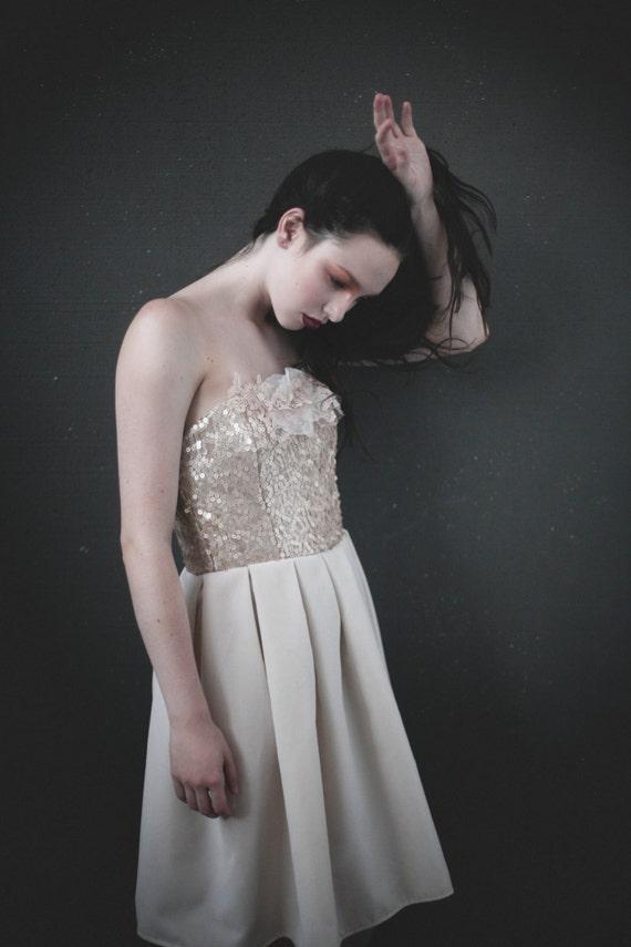 Star Gazer Blush Velvet and Sequin Party Dress