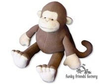 Monkey Plush Toy Pattern PDF INSTANT DOWNLOAD