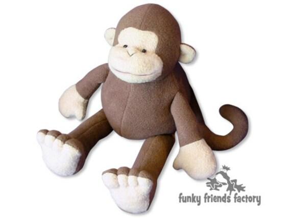 Monkey Plush Toy Pattern PDF INSTANT DOWNLOAD