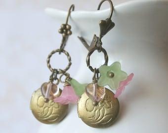 Vintage Locket Earrings - Lola Lockets