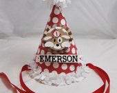 1st Birthday Puppy Themed Party Hat- Personalized