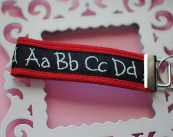 Teacher ABC Key Fob