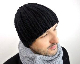 Alpaca / Highland Wool Beanie / Cap / Hat. Men / Women. Chunky Knit. Unisex. Fall / Winter / Ski. Handmade in France.