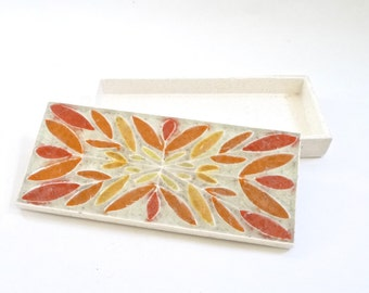 Modernist Ceramic Box Jewelry Box