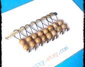 Snag Free Stitch Markers Small Set of 8 - Desert Jasper -- K22 -- Up to size US 8 (5.0mm) Knitting Needles