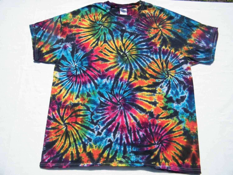 Tie dye shirt black fireworks custom made tiedye tye by tiedye for Custom tie dye t shirts