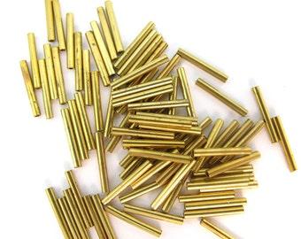 Vintage Brass Tube Beads (V366)